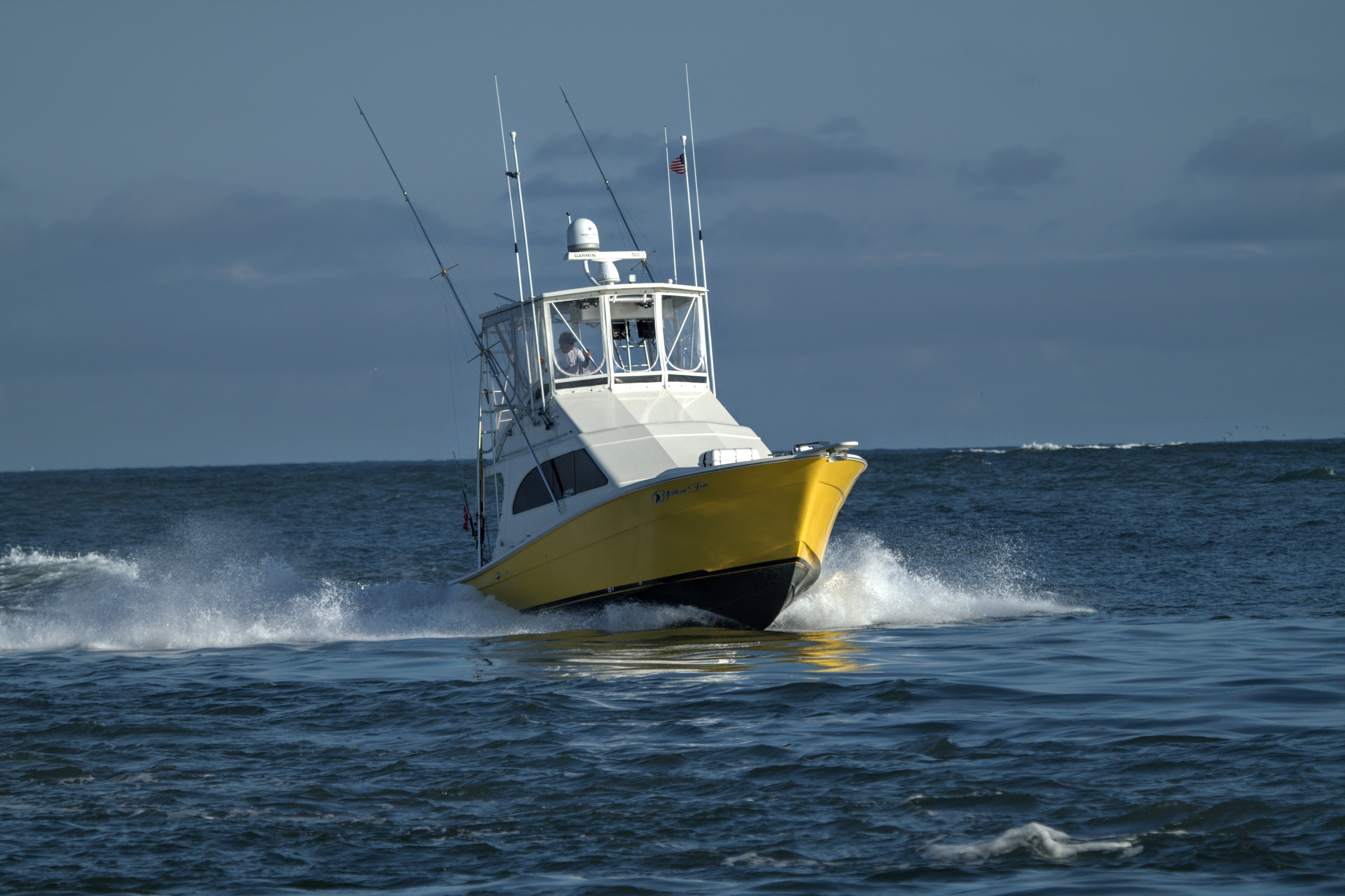 Topaz 37 Sporfish Convertible Yellowfin Running