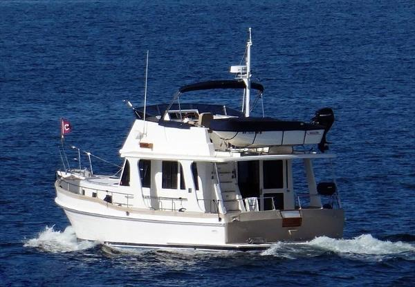 Grand Banks 47 Europa Underway Portside
