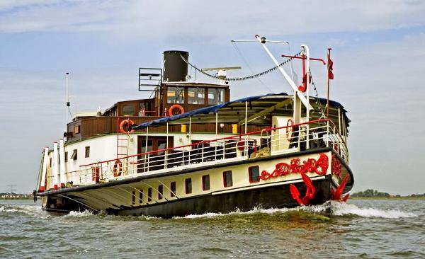 Barge paddle boat