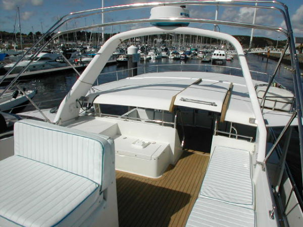 Flybridge looking aft