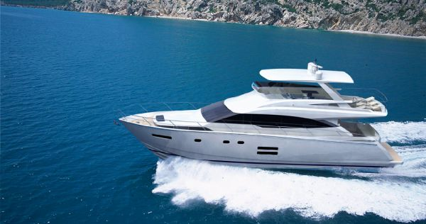 Johnson 65 Motor Yacht Johnson 65 Flybridge at Sea