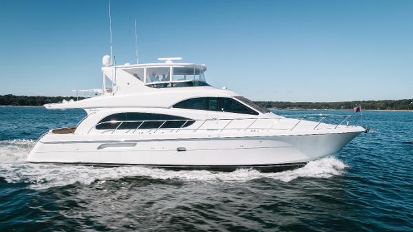 Hatteras 64 Motor Yacht Starboard Profile