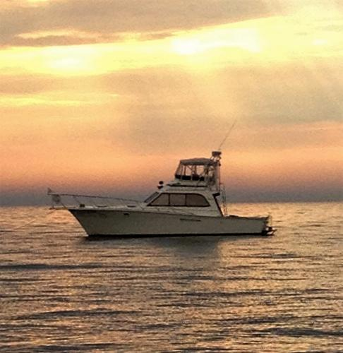 Egg Harbor Convertible Sportfish Sun Rise and Cruising