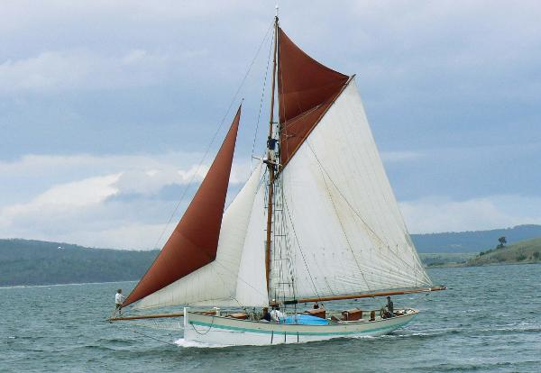 Traditional gaff cutter