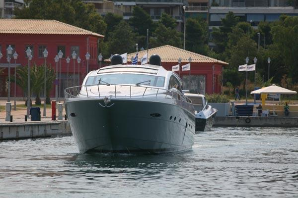 Pershing 72 Manufacturer Provided Image: THE ?PERSHING SEA SHOW? COMES TO AN END: THE PERSHING 72? FINISHES ITS TOUR IN ATHENS