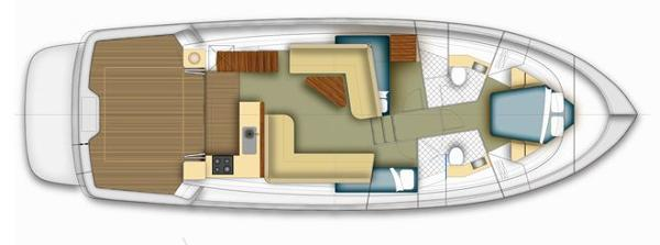 Maritimo 440 Offshore Convertible Accommodation Layout