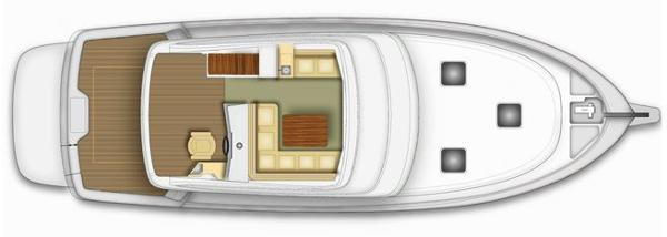 Maritimo 440 Offshore Convertible Flybridge Layout