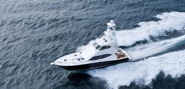 Maritimo 500 Offshore Convertible Aerial Shot