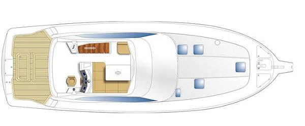 Maritimo 500 Offshore Convertible Accommodation Layout