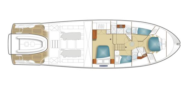 Maritimo C60 Sports Cabriolet Accommodation Layout