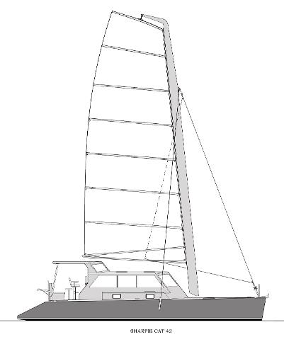 Parker Sharpie Cat 42 Sail Plan