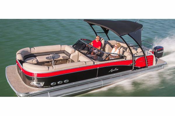 Avalon Catalina Platinum Quad Lounge Windshield - 25' Manufacturer Provided Image