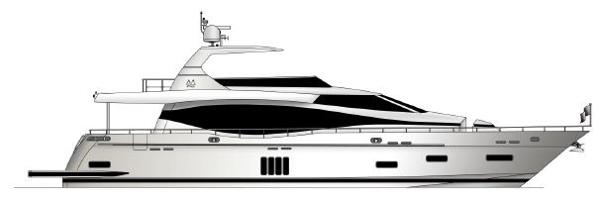 Monte Fino F82 Flybridge Motor Yacht Manufacturer Provided Image: Monte Fino 82 Fly