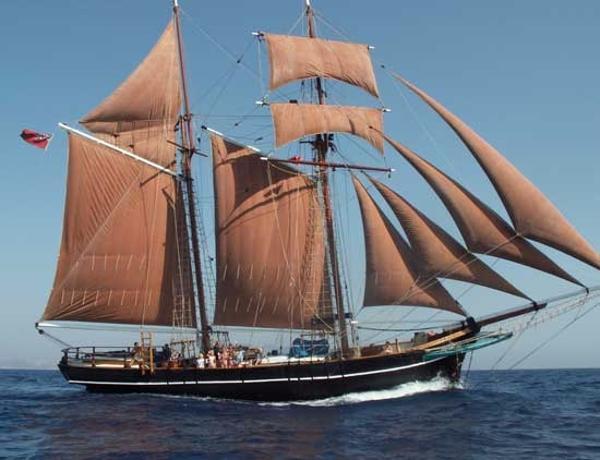 Tall Ship, Baltic Trader Tops'l Gaff Schooner