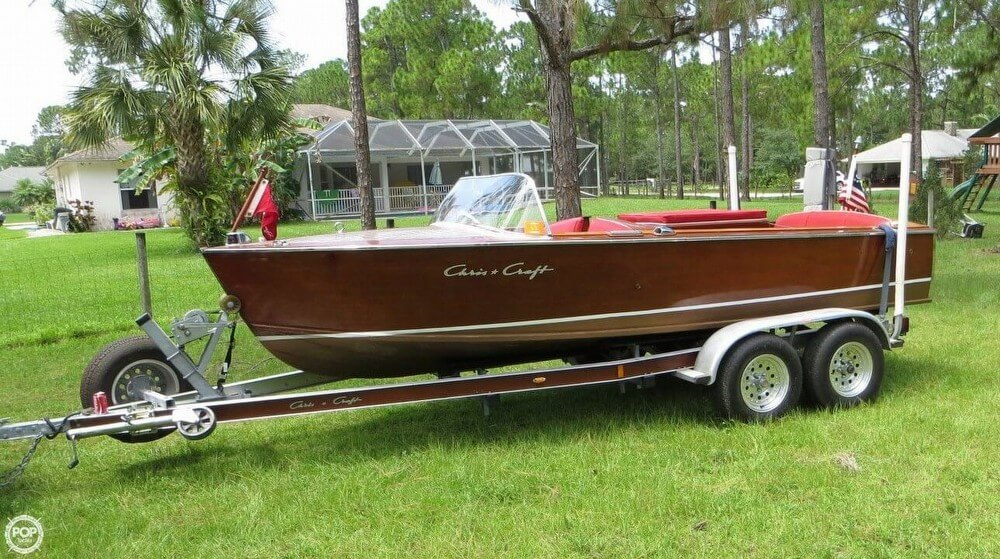 1957 chris craft 17 sportsman runabout jupiter florida for Chris craft boat accessories