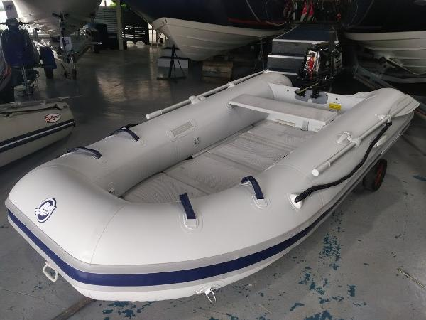 Mercury Inflatable 290 Sport with Folding Plastic Floor Mercury 290 Tender complete with Mercury F5HP outboard engine