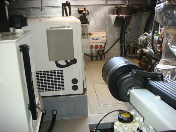40' Nordhavn engine room starboard aft