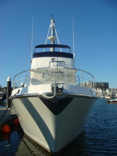 40' Nordhavn forward profile