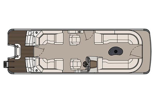 Avalon Catalina Platinum Quad Lounge - 27'
