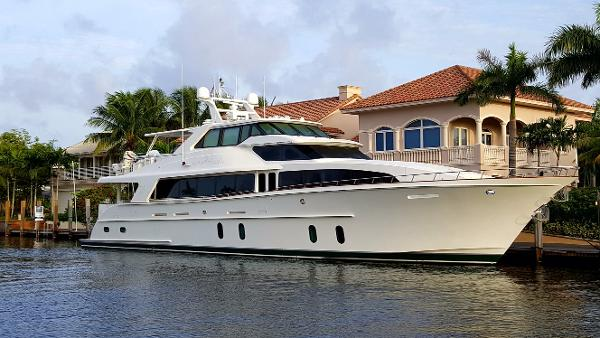Cheoy Lee Motoryacht LADY PEGASUS at dock
