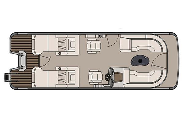 Avalon Catalina Platinum Rear Lounge - 25'