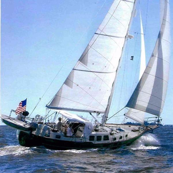 Westsail Sloop Sistership, under sail