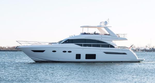 Princess 68 Flybridge Motor Yacht Port Side