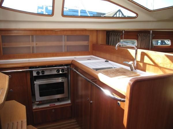 Galley with panoramic view