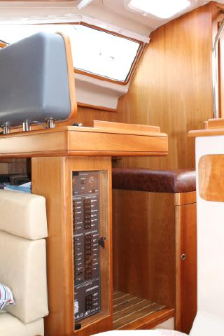 Boats electric panel at chart table