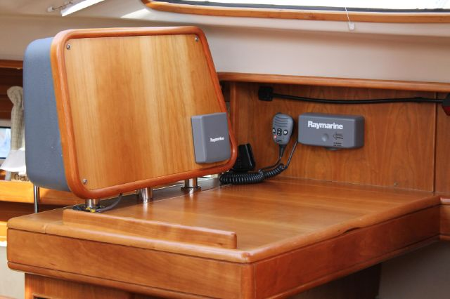 Instrument panel at chart table