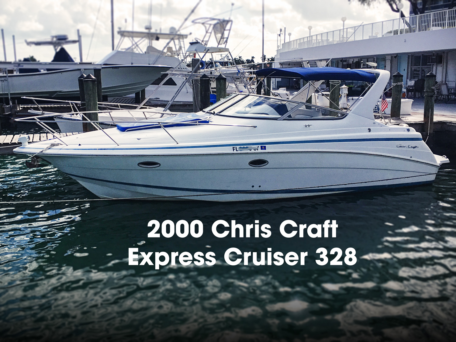 chris craft 328 express cruiser boats for sale