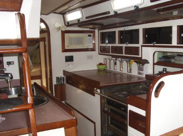Stevens 47 Galley Starboard side