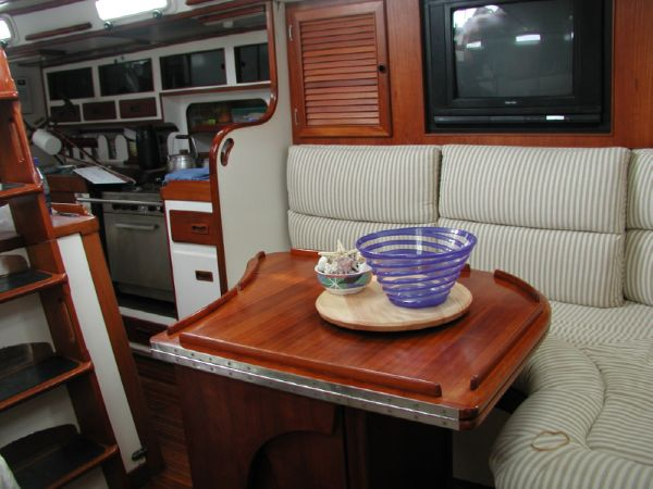 Stevens 47 Saloon looking to Starboard