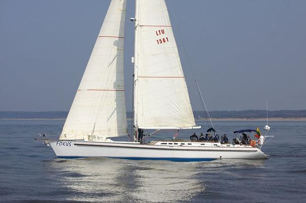Custom Laivite 22.5 Under sail in calm waters