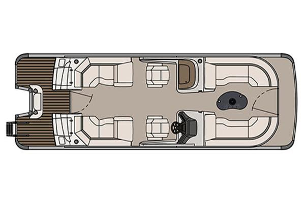 Avalon Catalina Platinum Quad Lounge Windshield - 25'