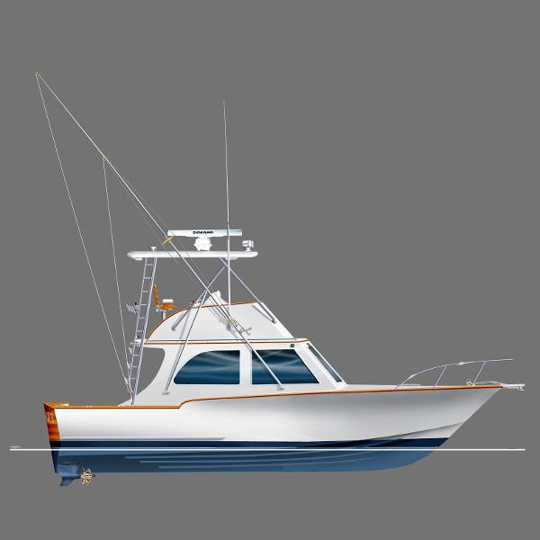 Mirage Mfg. Open Flybridge Profile - Rendering