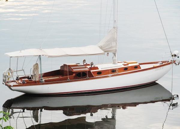 Harris 38 Square Meter Sloop Starboard View on her Mooring