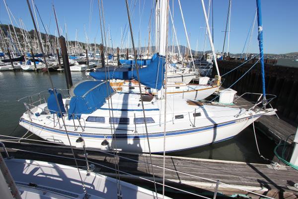 Newport  33 sloop Lying Sausalito Yacht Harbor