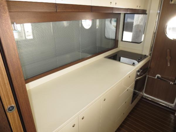 Privacy blind down in galley