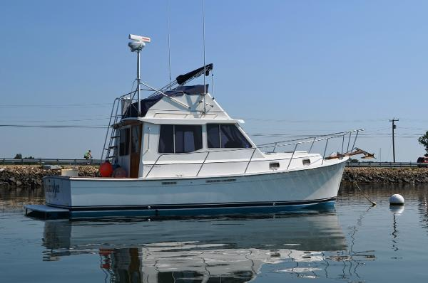 Cape Dory Flybridge On Her Mooring