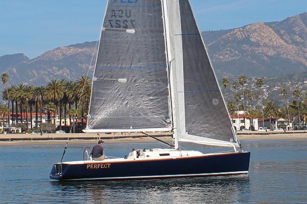 "J Boats J/100 ""Perfect"" J 100 Sails hoisted"