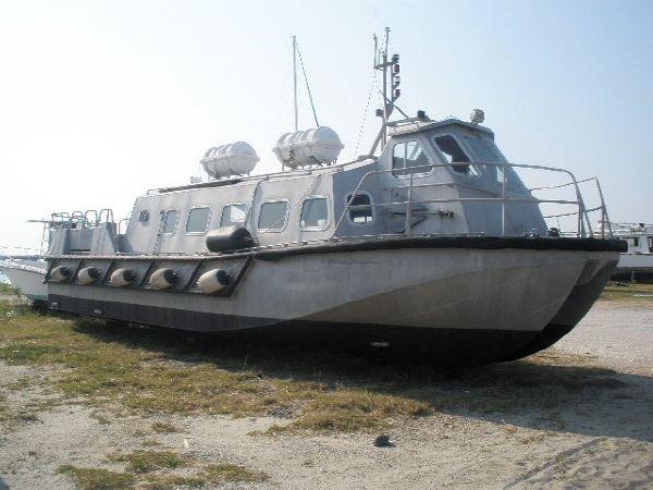 55' x 15' x 1.5' Aluminum Catamaran Crew Boat Buit in the UK