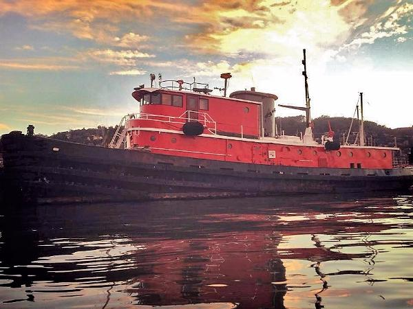 Custom Luxury Converted Tugboat Proud Profile