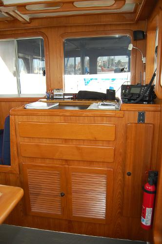 Chart Table in Pilothouse