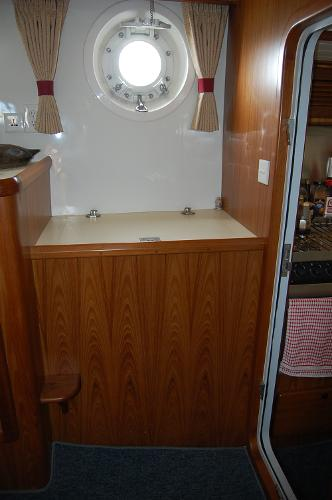 Aft Stateroom Porthole over Freezer