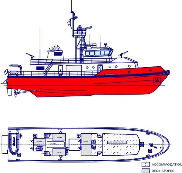 ron-ka yachting co. ltd 32 M Side view