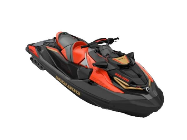 Sea-Doo RXT®-X® 300 IBR & Sound System Eclipse Black and Lava Red