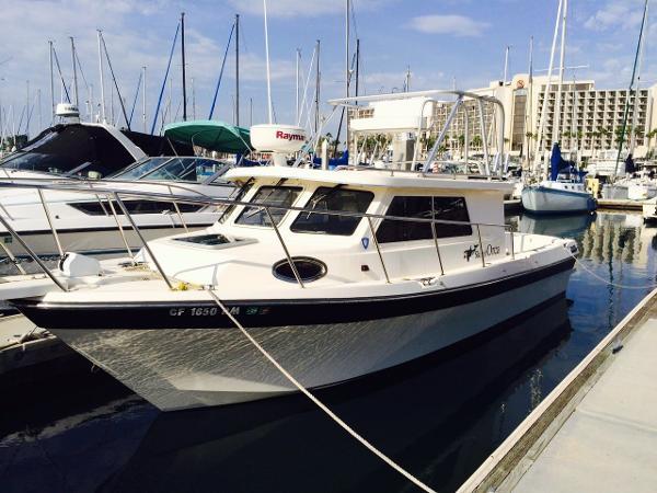 Skagit Orca 27 XLC w/TRAILER Port side bow quarter