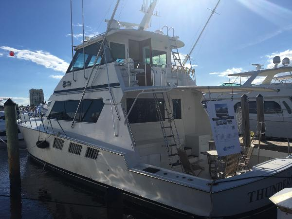 Hatteras 65 Convertible Enclosed Bridge