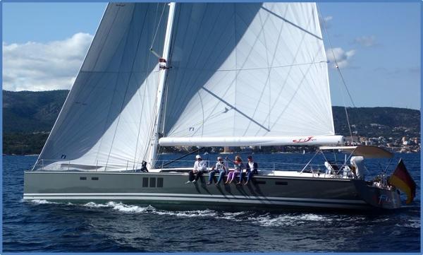 Hanse 630e At sea